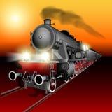Train de nuit illustration libre de droits