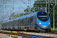 Train de Pendolino Images libres de droits