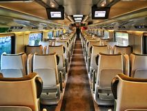 Train de Pendolino Photo libre de droits