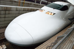 Train de remboursement in fine de Shinkansen Photographie stock
