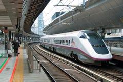 Train de remboursement in fine de Shinkansen Photographie stock