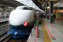 Train de remboursement in fine de Shinkansen Photo stock