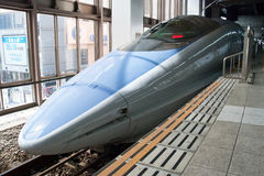 Train de remboursement in fine de Shinkansen Images stock