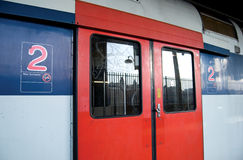 train de rer de Paris Images stock