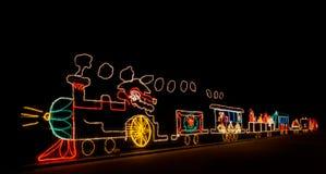 Train de Santa Images libres de droits