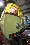 Train de souterrain du ` s de Moscou rétro de 1934 dans le dépôt de ` d'Izmailovo de ` 10 juin 2017 moscou Russie Photographie stock