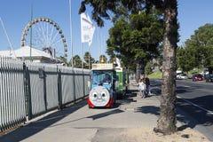 Train de terre de Thomas the Tank Engine dans Geelong images libres de droits