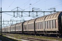 Train de transport Photographie stock