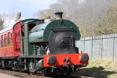Train de vapeur. image stock