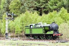 Train de vapeur, Angleterre Images libres de droits