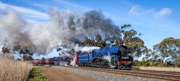 Train de vapeur, Clarkefield, Victoria, Australie, avril 2017 images stock