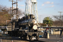 Train de vapeur dans la locomotive à vapeur d'Umekoji Musuem Image stock