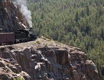 Train de vapeur de montagne photo libre de droits