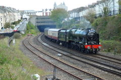 Train de vapeur le grand Britainix dans Plymouth Photographie stock libre de droits