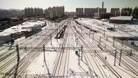 Train de ville de Séoul banque de vidéos