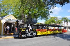 Train de visite de conque à Key West Image stock
