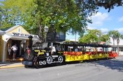 Train de visite de conque à Key West Image stock