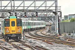 Train departing from London Bridge Station Stock Photography