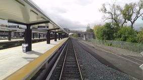 A Train Departs Albany Rensselaer Station. In New York State hd, 25fps stock footage
