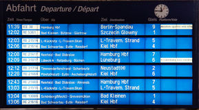Train Departure Board Royalty Free Stock Images