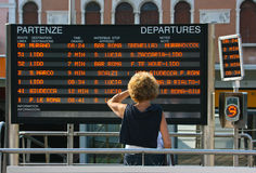 Train departure information Royalty Free Stock Images