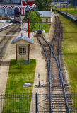Train depot. In the city Stock Image