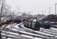 Train depot in Klaipeda Stock Photography