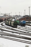 Train depot in Klaipeda. Train and cargo depot in Klaipeda, Lithuania Stock Photos
