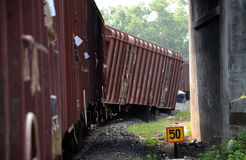 Train derailment Royalty Free Stock Photography