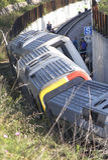 Train derailment wreck 010 Royalty Free Stock Photos