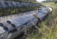 Train derailment wreck 007 Stock Photography