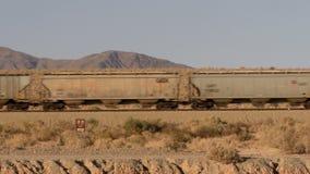 Train in the Desert stock video