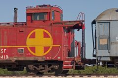 Train Detail 1. Detail of old train in Texas stock photo