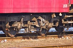Train detail Stock Photo