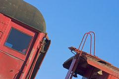 Train Detail 3. Detail of old train in Texas Royalty Free Stock Photo