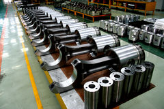 Train Diesel Engine Pistons On The Product Line Royalty Free Stock Photo