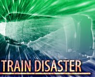Train disaster Abstract concept digital illustration Stock Photography