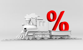 Train discounts Stock Photography