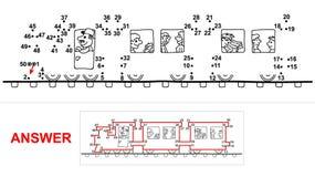 Train - dot game. Royalty Free Stock Photos
