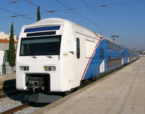 Train. Double Decker. Double Decker Train. Lisbon, Portugal Royalty Free Stock Images