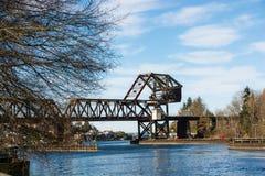 Train drawbridge Stock Photo