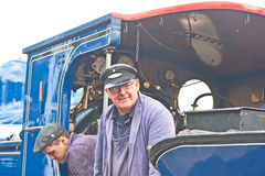 Train Driver at Boat of Garten Royalty Free Stock Image
