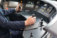 Train driver Royalty Free Stock Photo