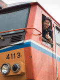 Train Driver in Thailand Stock Photography