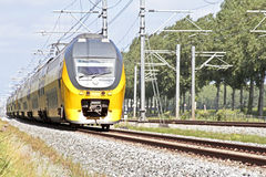 Train driving in the Netherlands Royalty Free Stock Images