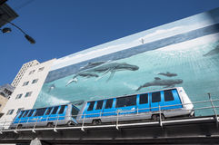 Train du centre de Miami Photos libres de droits