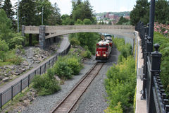 Train in Duluth, MN Royalty Free Stock Photography
