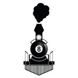 Train with eight ball illustration Royalty Free Stock Image