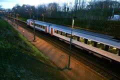 Train en Belgique Photos stock