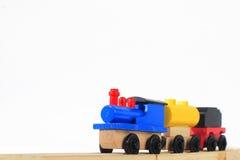 Train en bois de jouet Photographie stock libre de droits